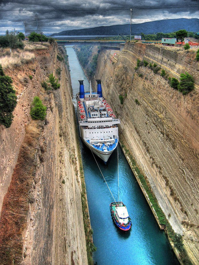 Amazing Corinthos Channel in Greece